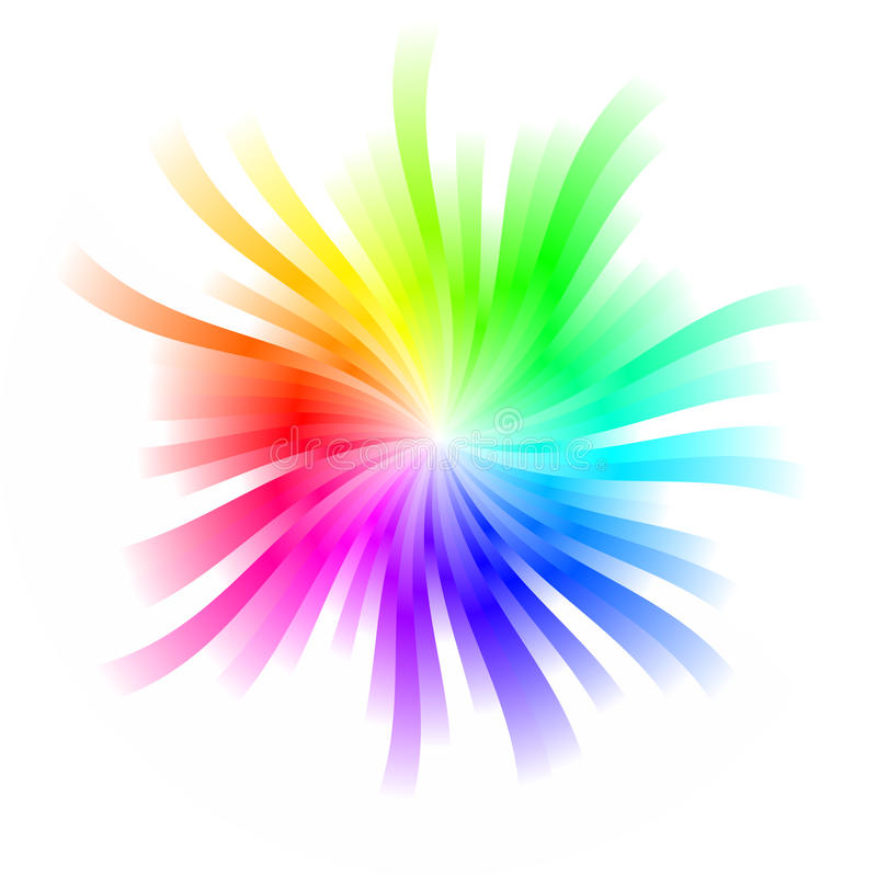 Free Rainbow Whirl Royalty Free Stock Image - 13407786