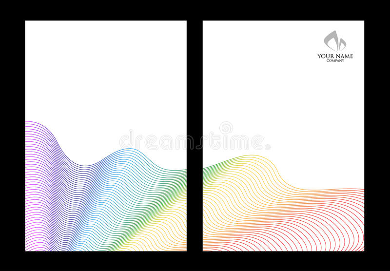 Rainbow and white abstract background templates. Rainbow abstract element on white background templates stock illustration