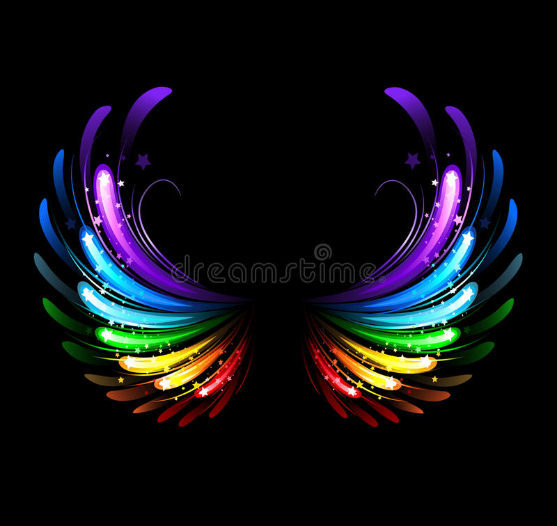 Free Rainbow Wings Stock Image - 33520991