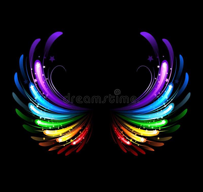 Rainbow wings vector illustration