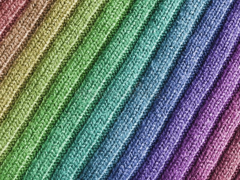 Rainbow Wool Fabric Stock Photos