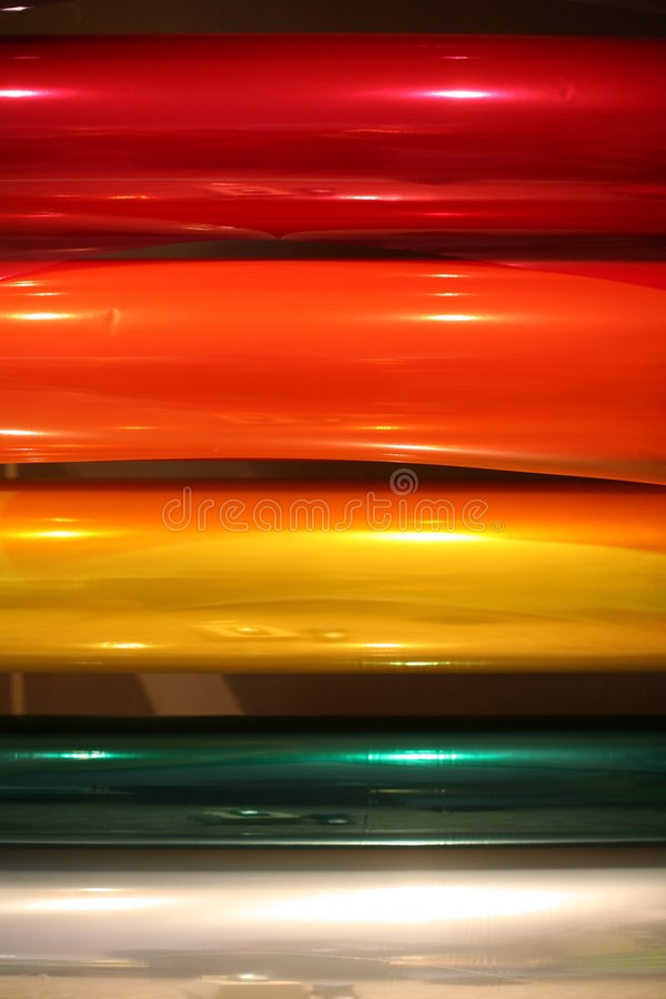 Rainbow wrapping paper stock image