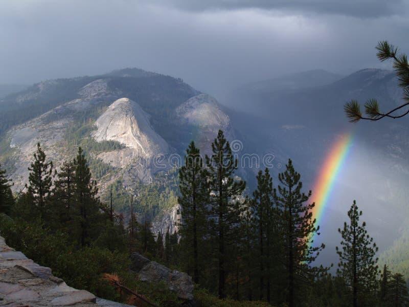 Rainbow in Yosemite royalty free stock image