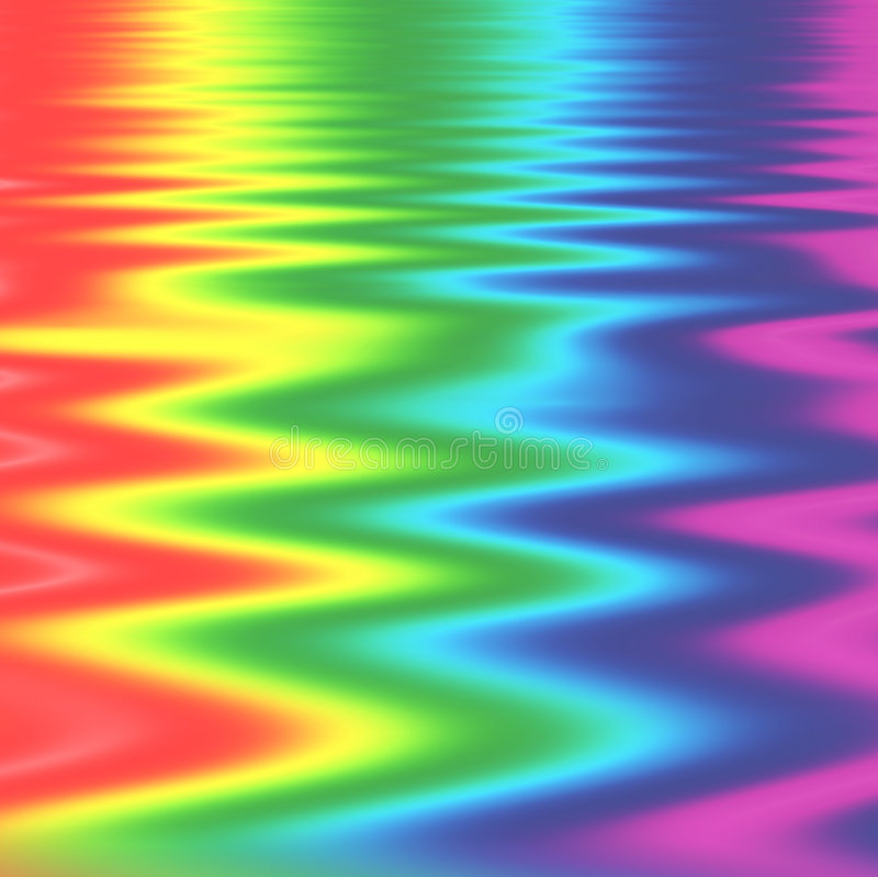 Rainbow Zig Zags stock illustration