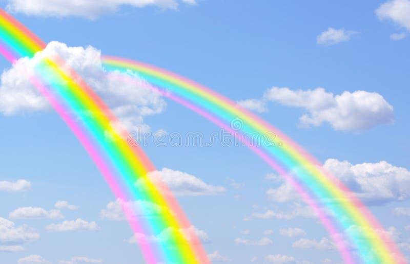 Rainbows royalty free stock photo