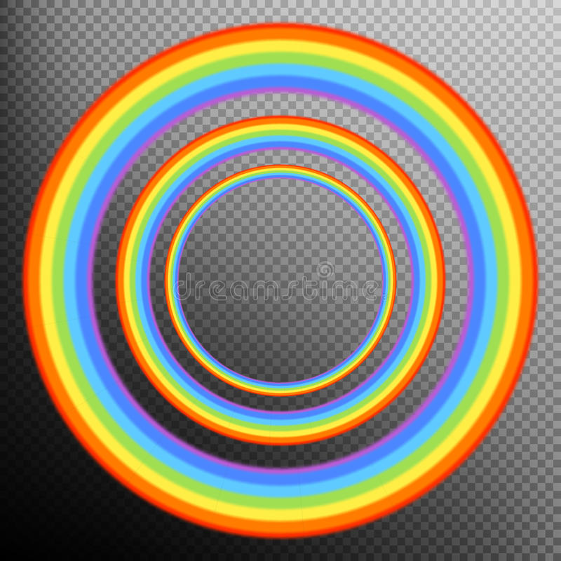 Rainbows in different shape realistic set. EPS 10 royalty free illustration