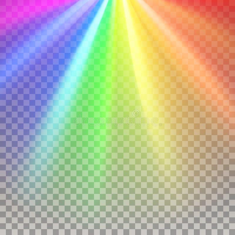 Rainbow rays element stock illustration