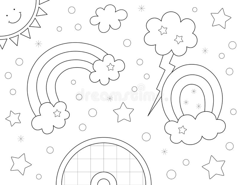 Rainbow Coloring Sheet Stock Illustrations 115 Rainbow Coloring Sheet Stock Illustrations Vectors Clipart Dreamstime