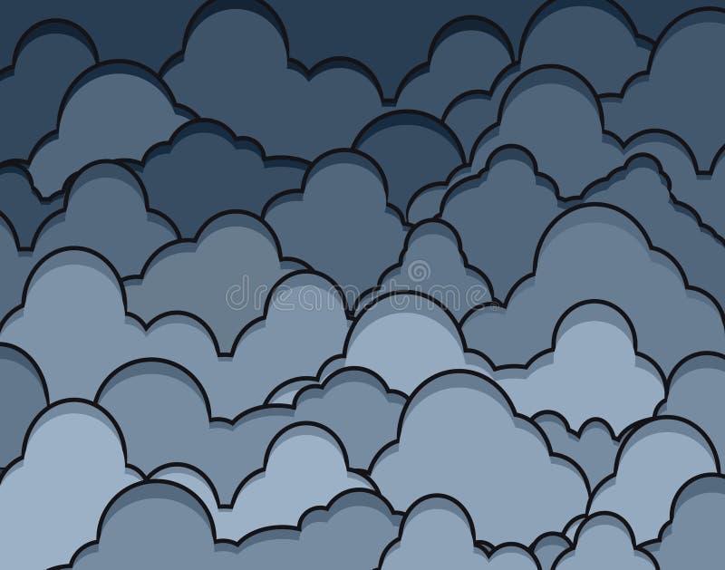 rainclouds 向量例证