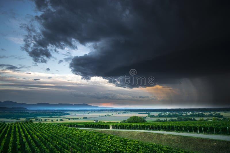 rainclouds 免版税库存照片