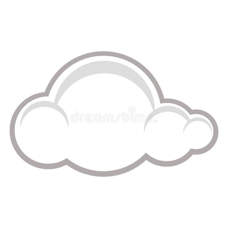 raincloudsymbol royaltyfri illustrationer