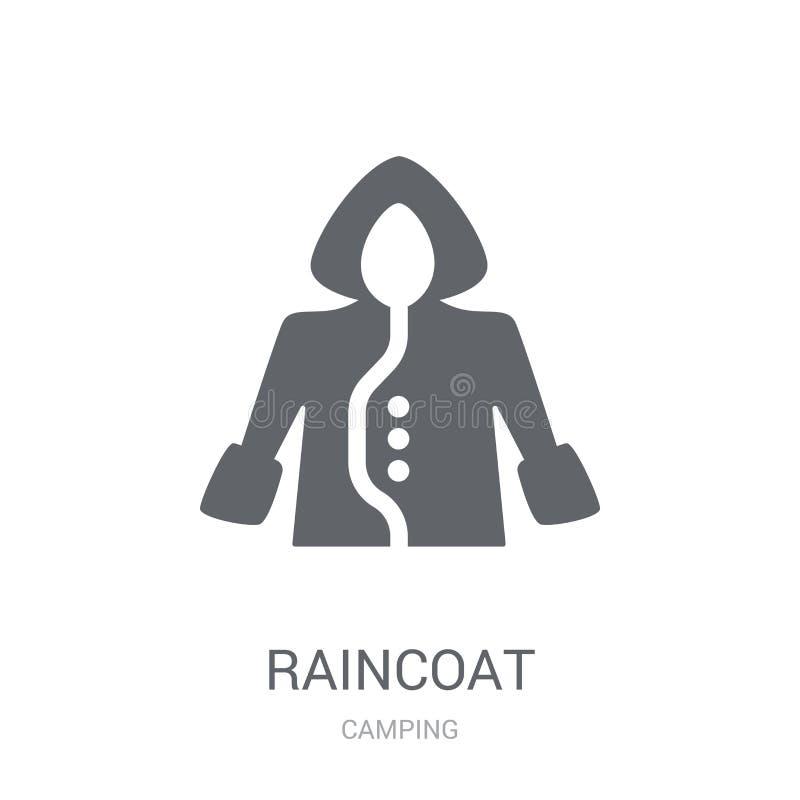 Raincoat icon. Trendy Raincoat logo concept on white background stock illustration