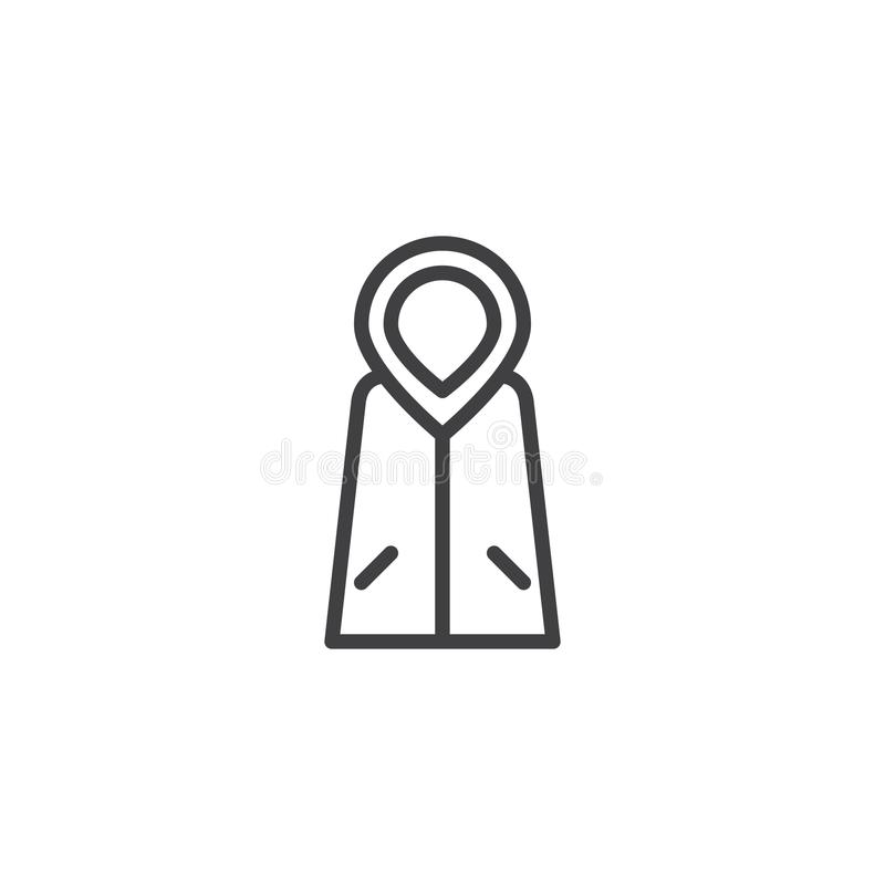 Raincoat outline icon vector illustration