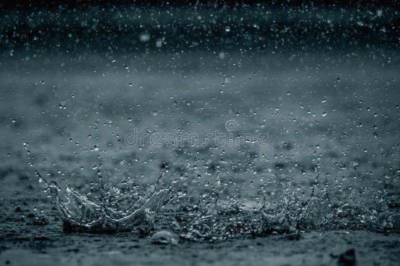Raind下落 库存照片
