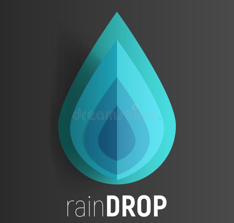 raindrop illustration de vecteur