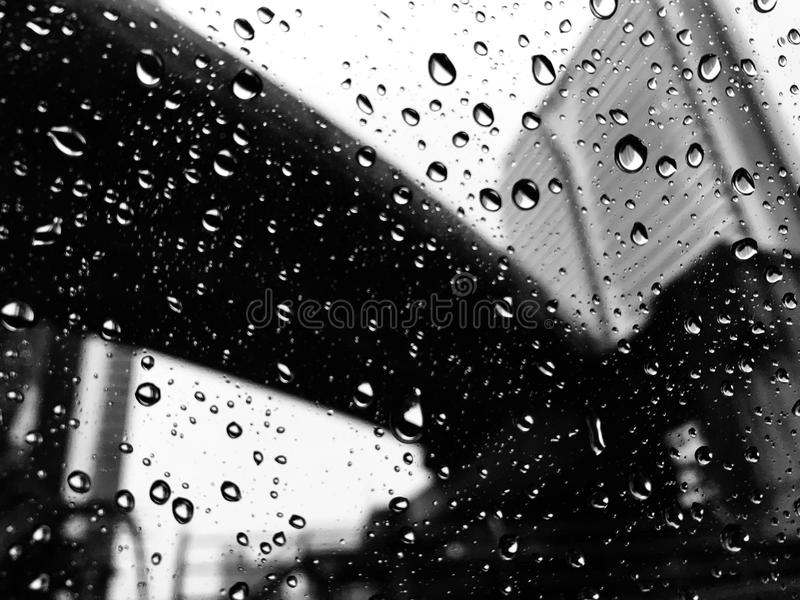 Raindrop in a city stock photography