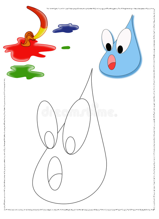 Raindrop coloring stock image