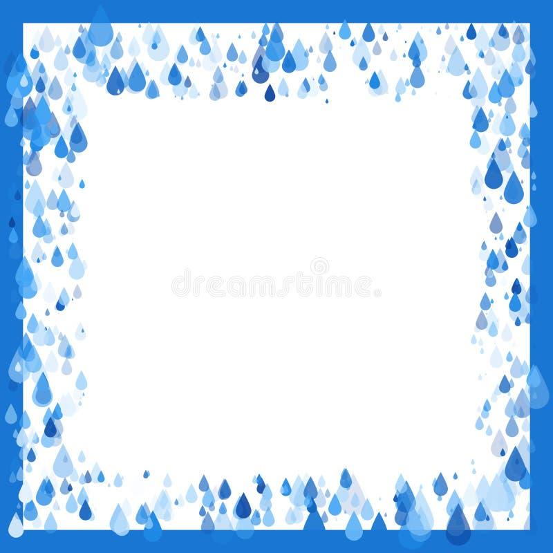 Raindrops naturalnego tła rama ilustracji