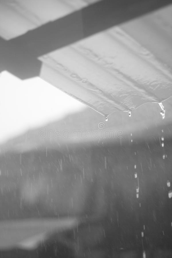 Raindrops Monochrome stock images