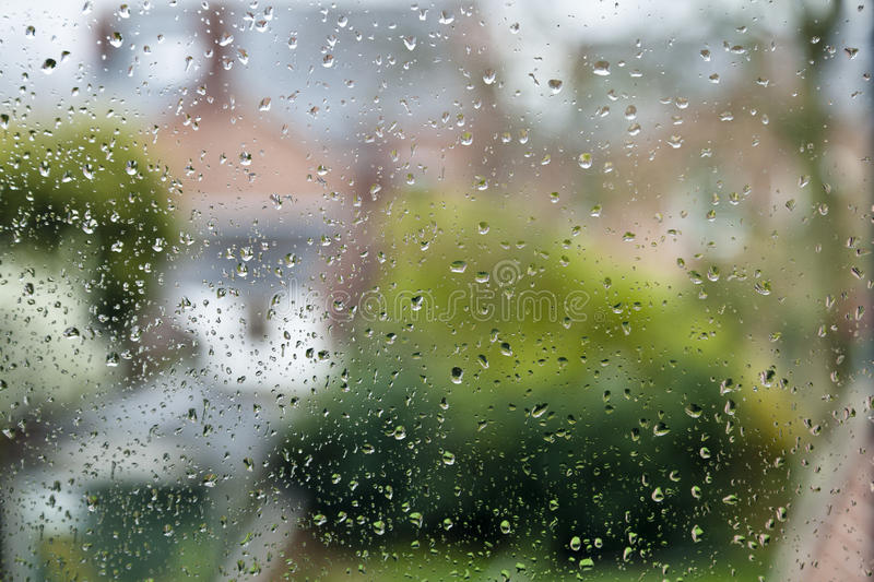 Raindrops On A Window royalty free stock photo