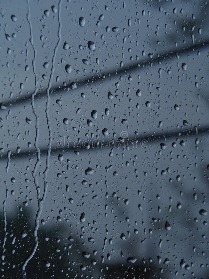 Raindrops on window stock photos