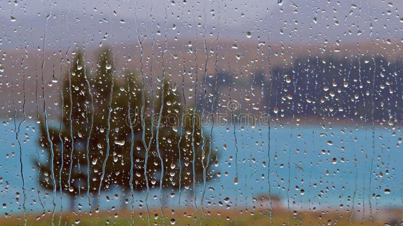 Raindrops on Window stock image