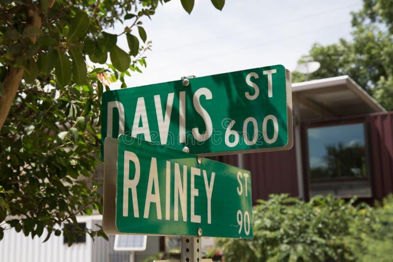 Rainey Street Austin Texas fotografía de archivo