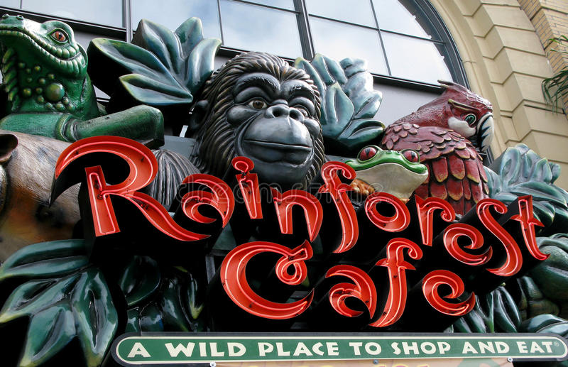 Download Rainforest cafe editorial stock image. Image of fast - 20016949