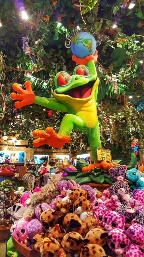 Rainforest Cafe` Frog royalty free stock photo