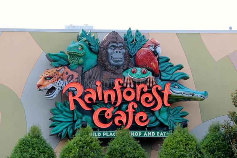The Rainforest Cafe Nashville Tennessee. Rainforest Cafe is a themed restaurant chain owned by Landry's, Inc. of Houston, Texas. It was founded by entrepreneur stock images
