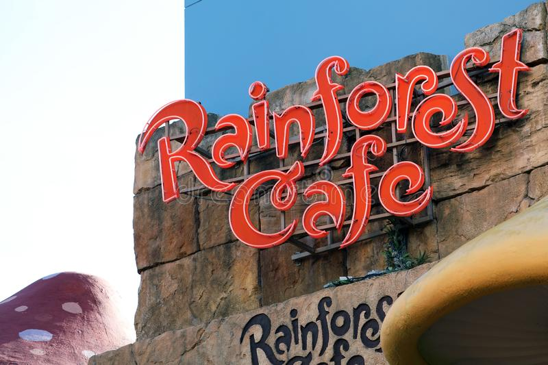 Rainforest Cafe Sign royalty free stock photo