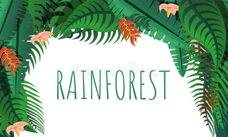 Rainforest concept banner, cartoon style royalty free illustration