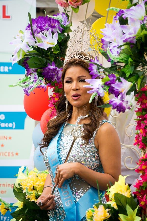 Rainha da beleza asiática bonita foto de stock royalty free