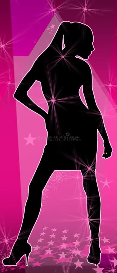 Rainha da dança da menina do disco imagem de stock