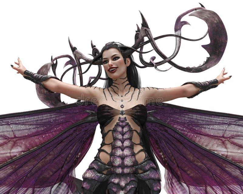 Rainha da escuridão da senhora ilustração royalty free