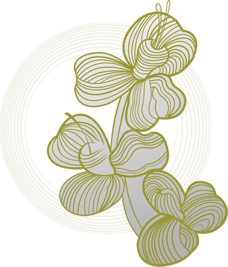 Rainha da flor ilustração do vetor