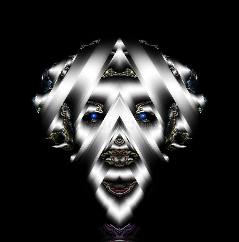 A Rainha da Maternidade Silvery Regal De Outra Galáxia: Shantara imagem de stock royalty free