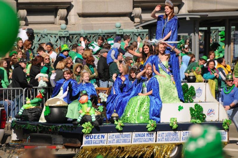 Rainha da parada do St Patricks fotografia de stock