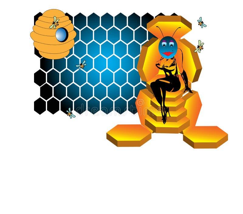 A rainha das abelhas ilustração stock
