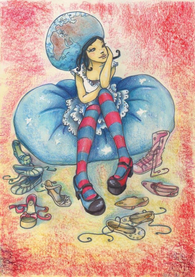 Rainha das sapatas ilustração do vetor