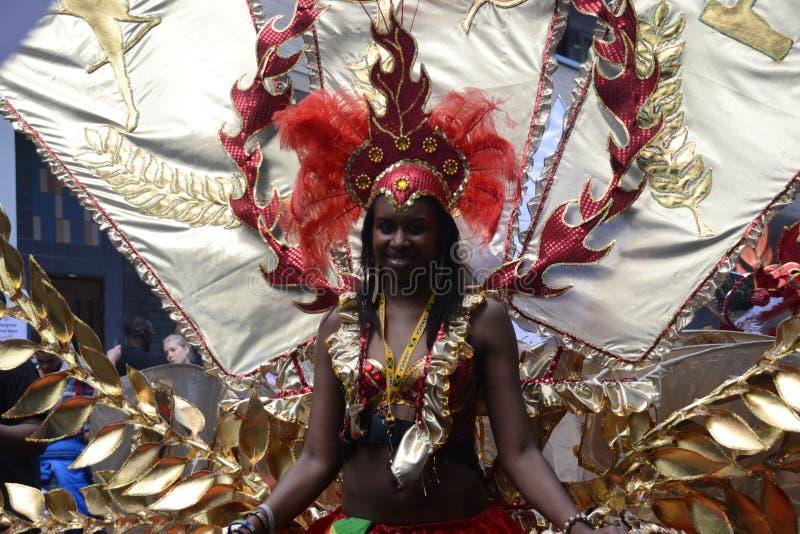 Rainha Do Carnaval, Notting Hill Imagem de Stock Editorial