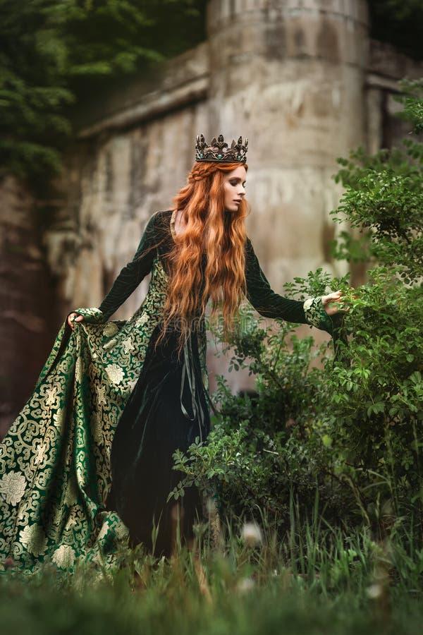 Rainha do gengibre perto do castelo imagem de stock royalty free