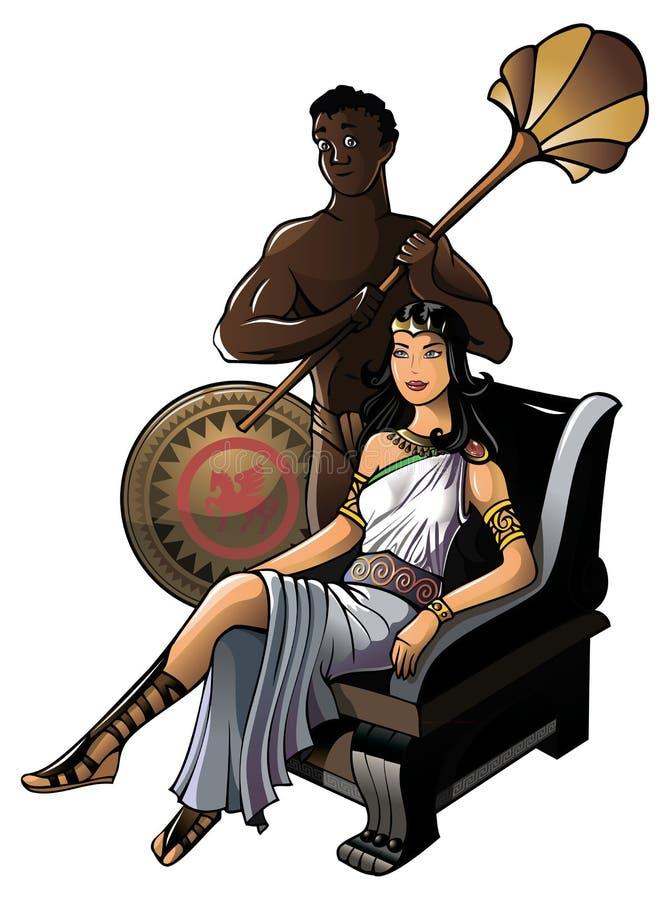 Rainha do grego clássico ilustração do vetor