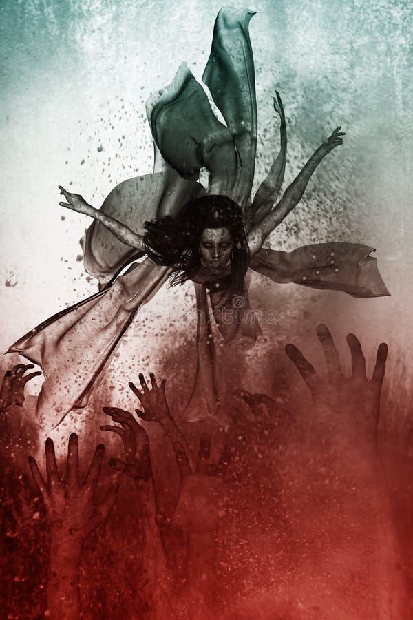 Rainha do mal ilustração do vetor