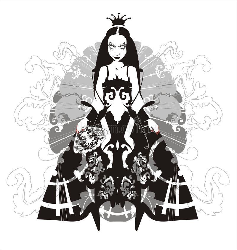 Rainha do vampiro - ilustração do vetor ilustração royalty free