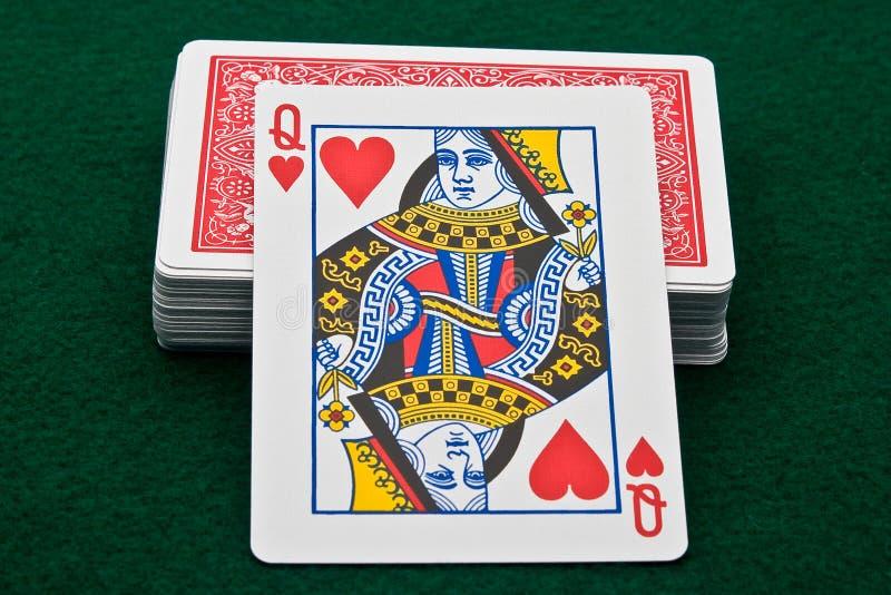 Download Rainha dos corações imagem de stock. Imagem de possibilidade - 10799673