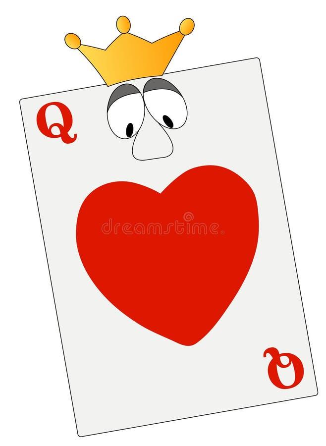 Rainha dos corações ilustração do vetor