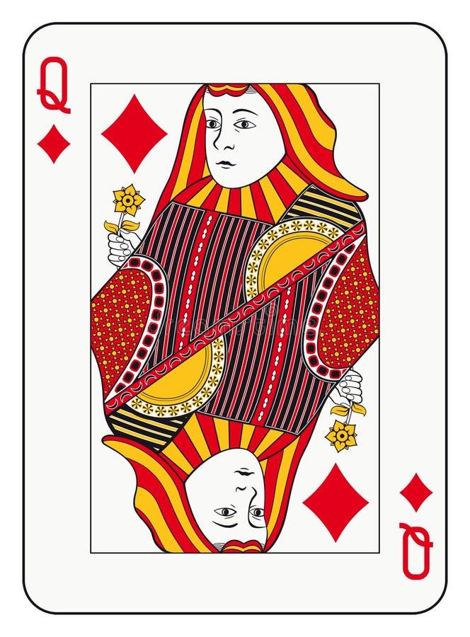 Rainha dos diamantes ilustração stock