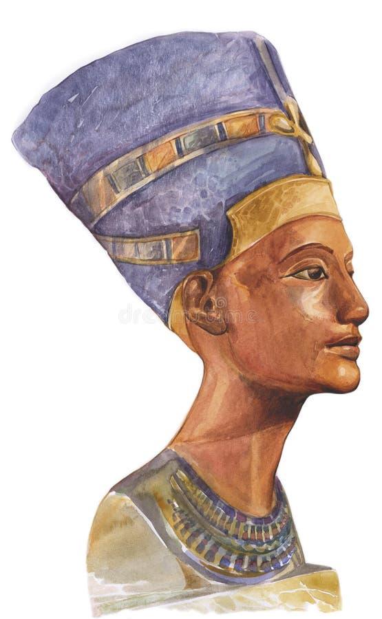 Rainha egípcia antiga Nefertiti ilustração royalty free