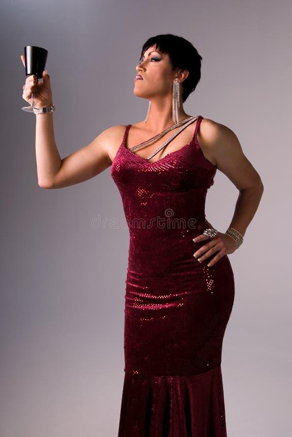 Rainha elegante do arrasto. imagem de stock royalty free